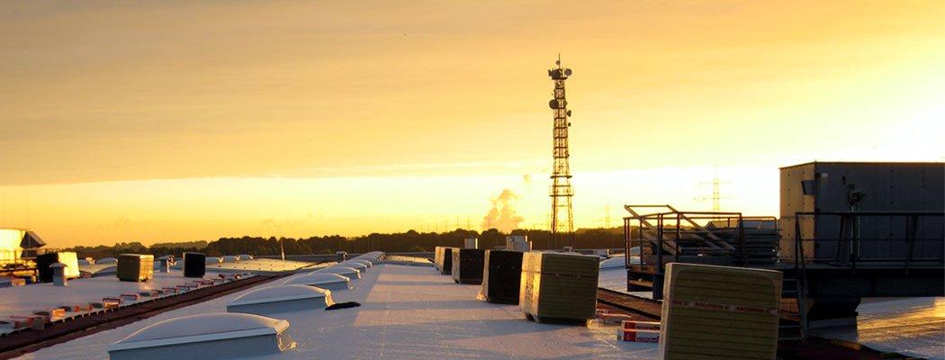 Dachsanierung 12.000m² Produktionsgebäude, Würselen